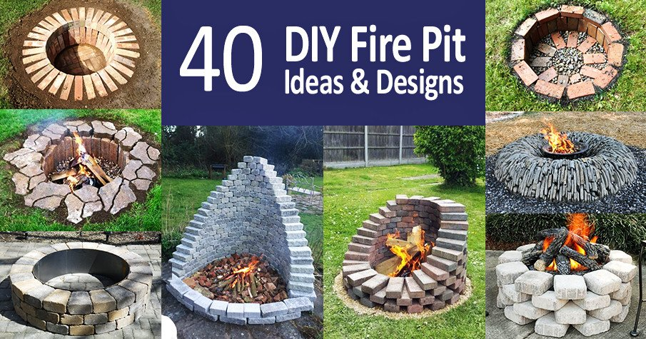 Top 40 Diy Fire Pit Ideas Stacked Inground And Above Ground Designs