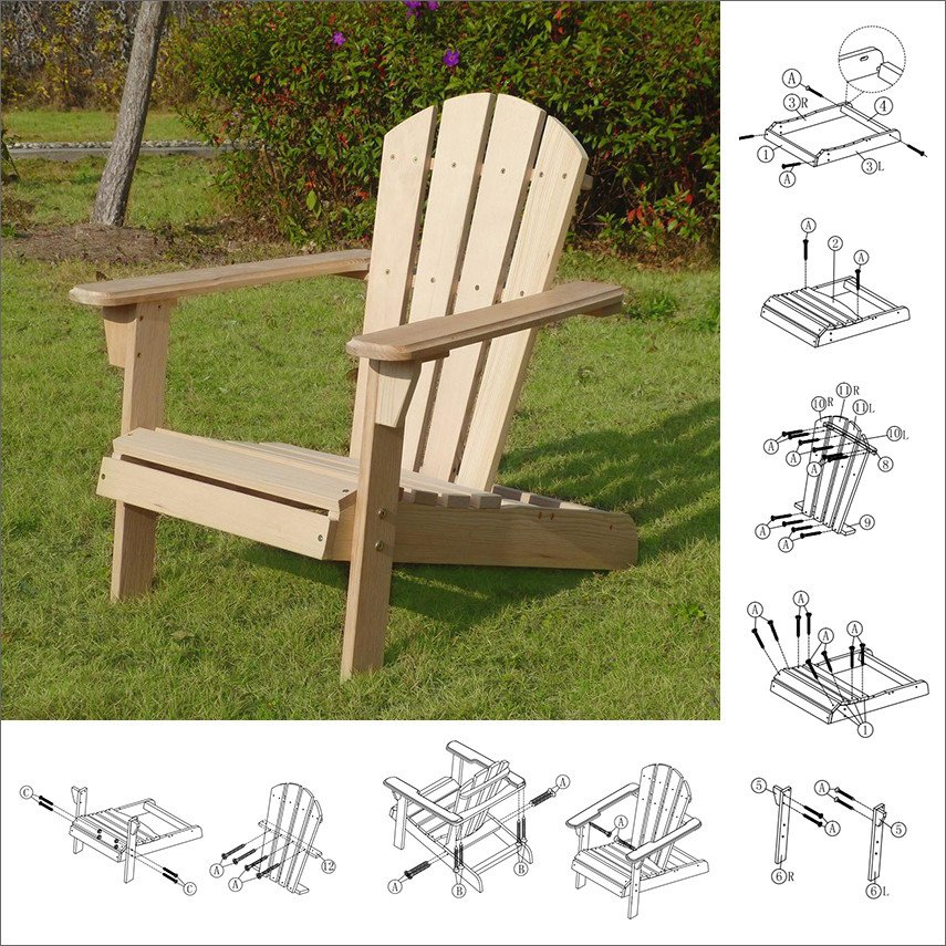Unfinished wood kids Adirondack chair DIY kit from Home Depot