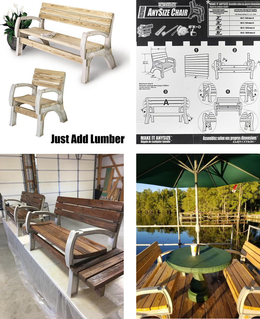 Anysize Chair and Bench DIY Kit