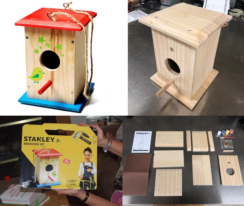 Painted DIY Birdhouse Kit