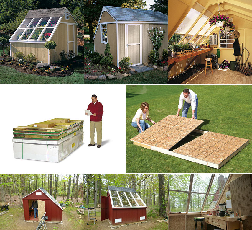 Solar Shed DIY Kit with floor - 10 ft by 8 ft