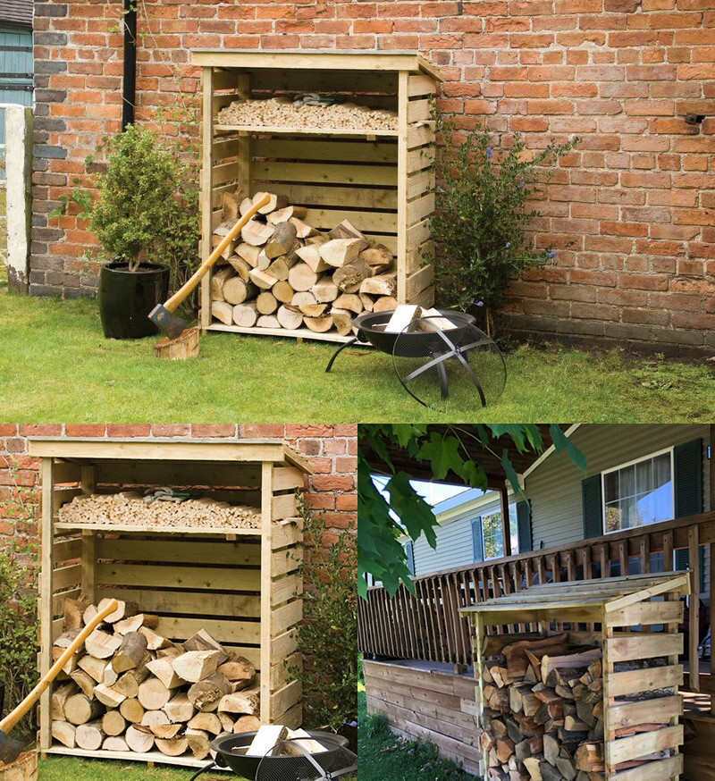 Wood log store kit 4 ft by 2 ft