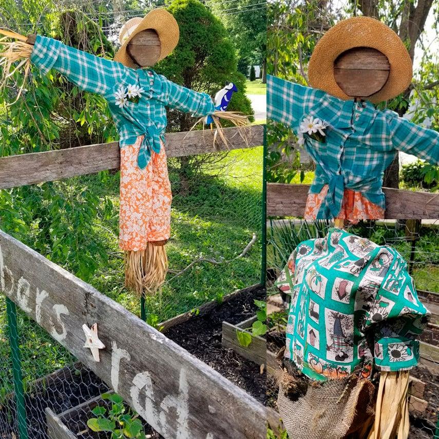 Decorative DIY Garden Scarecrow Ideas