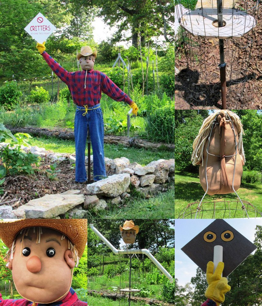 Making a Scarecrow that Moves and Chimes