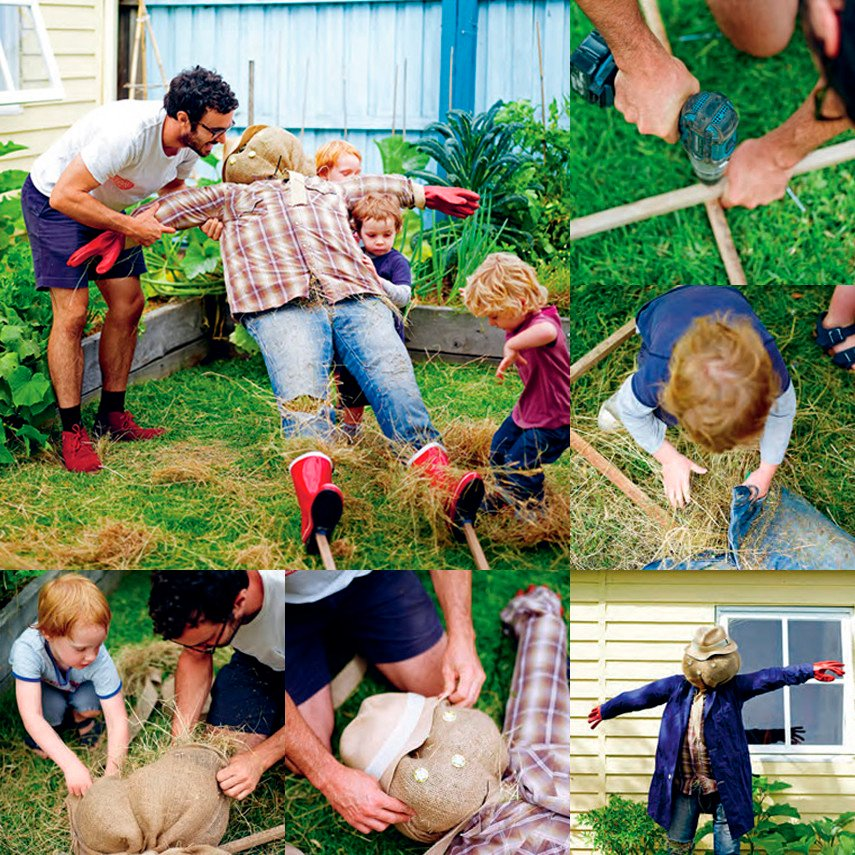 Making a Garden Scarecrow with Kids