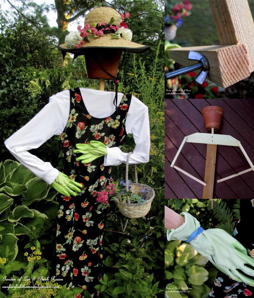 Garden Maiden Scarecrow DIY