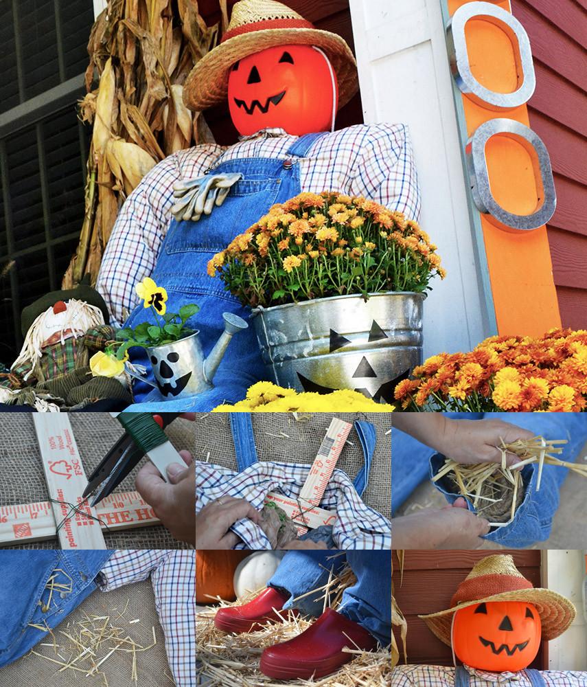 Seated Scarecrow Design Idea