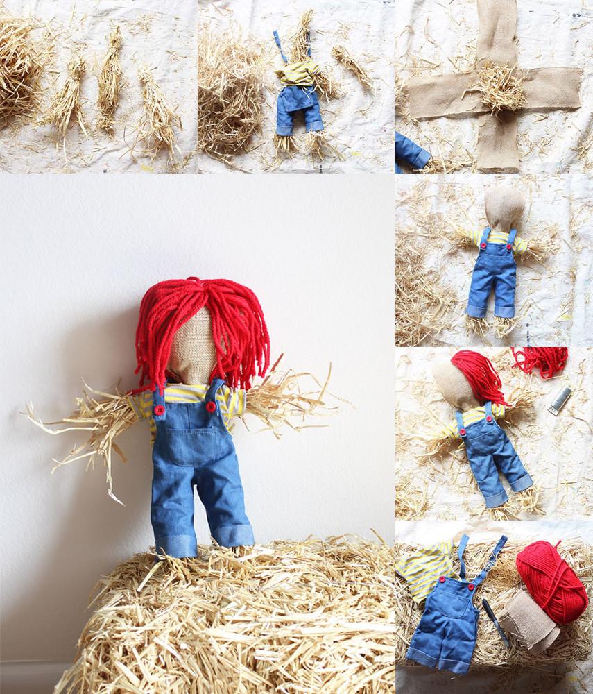 How to Make a Mini Garden Scarecrow