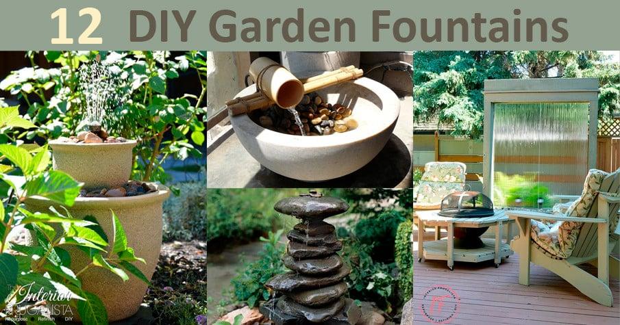 12 DIY Garden Fountain Ideas and Tutorials