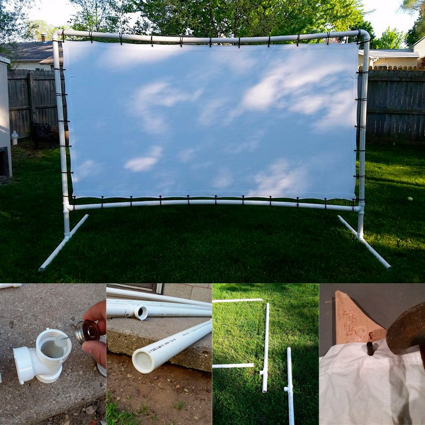 Affordable DIY Outdoor Movie Screen
