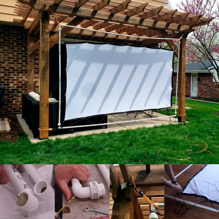 Easy to Store Outdoor Movie Screen and Frame