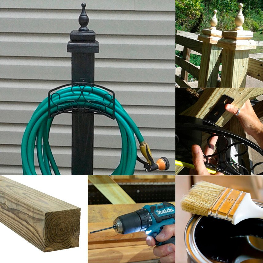 The Basic 4x4 Plan for a Garden Hose Holder