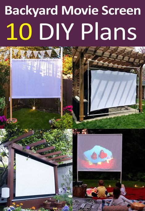 DIY Backyard Movie Screen Plans and Ideas