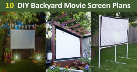 11 DIY Backyard Movie Screen Plans and Ideas