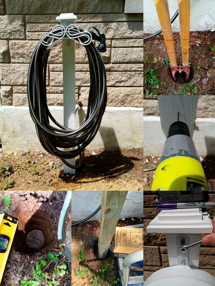 This cute DIY plan for a Hose Holder is all about details