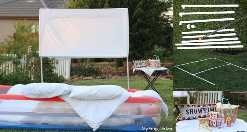 Inexpensive Backyard Movie Theater Idea