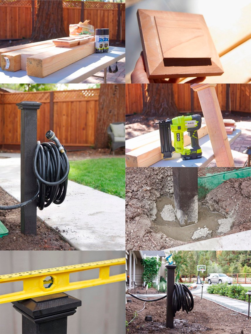 With the plan you can build 4 Hose Holders for under $100