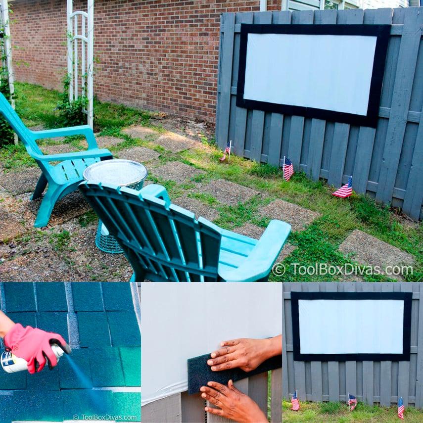 Small Outdoor Movie Screen Idea
