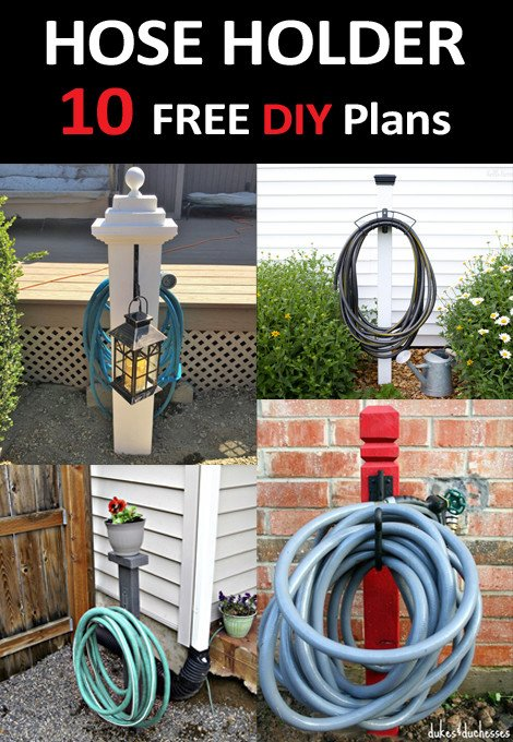 Free DIY Garden Hose Holder Plans