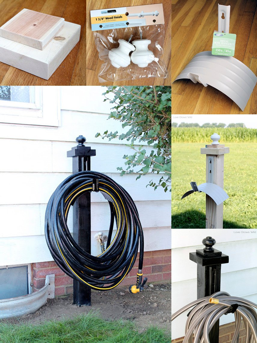 Use this free plan to make 2 Hose Holder for under $30