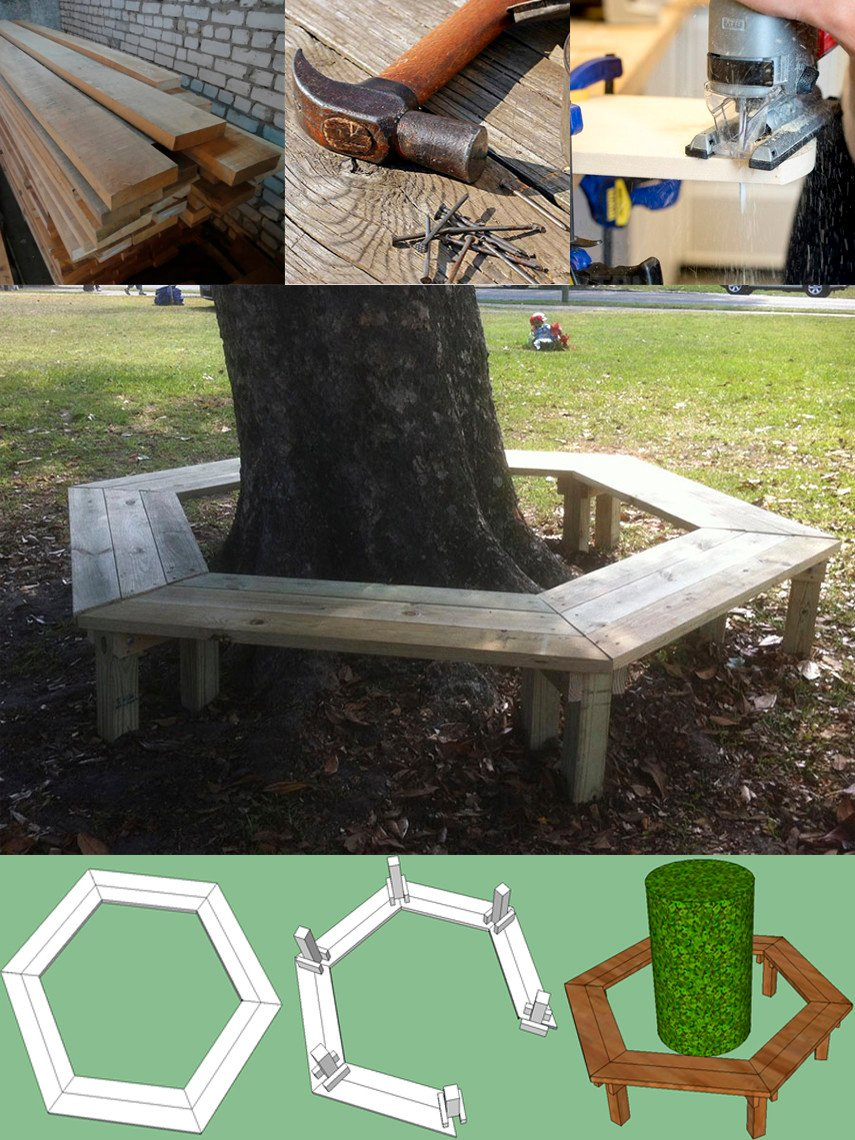 Maybe the Simplest Tree Bench Plan