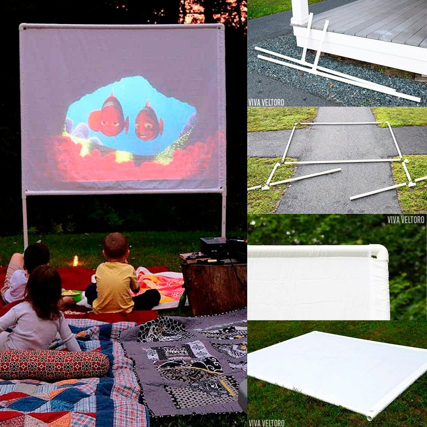 Build this outdoor movie screen without tools