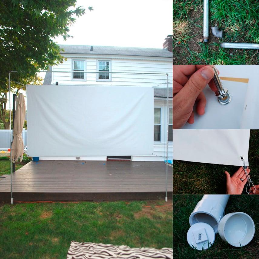 Sleek Backyard Movie Screen Idea