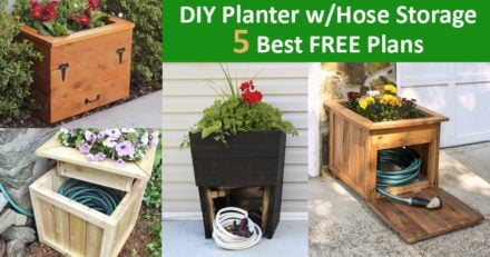 5 Best Planter with Garden Hose Storage DIY Plans