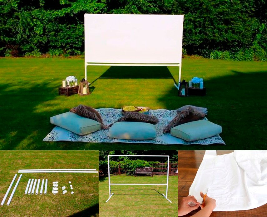 Classic Drive-In Style Movie Screen Design Idea for Your Backyard