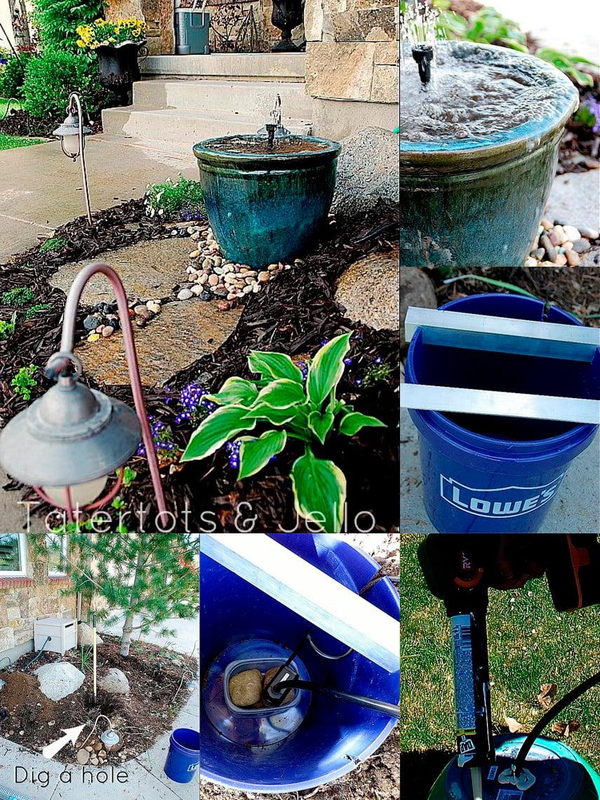 Beautiful Recirculating Garden Fountain Plan