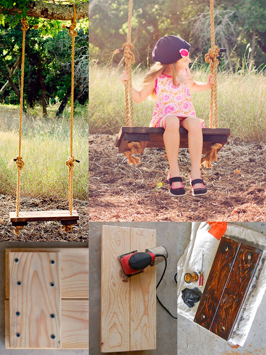 Charming Rustic Swing Idea