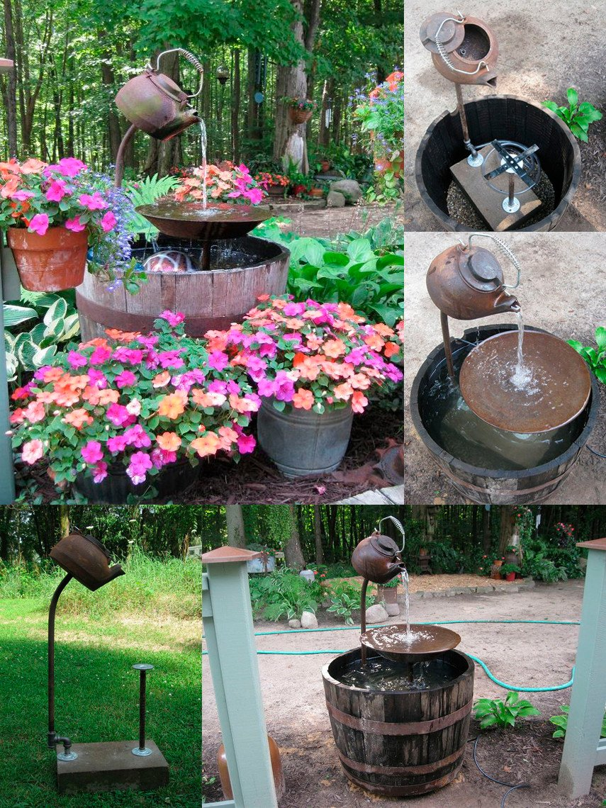 Make your garden shine with this amazing Tea Pot Suspension Fountain