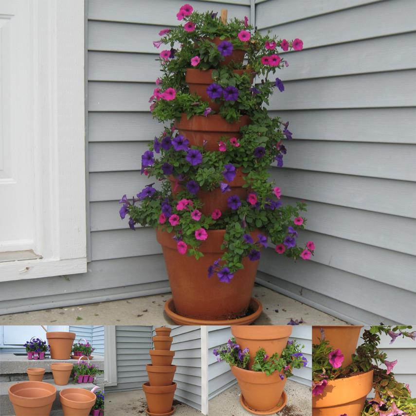 The Corner Nesting Flower Tower