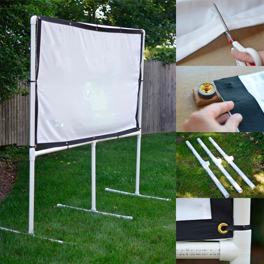 DIY Backyard Movie Screen for $50