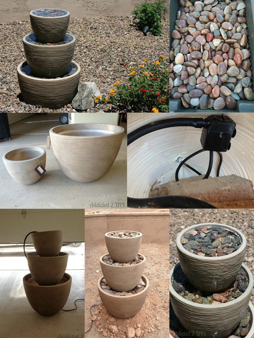 A classic DIY design for your garden - the 3 Tiered Fountain