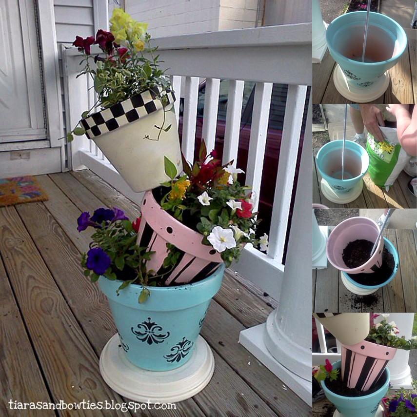 Stencil-Me DIY Flower Tower