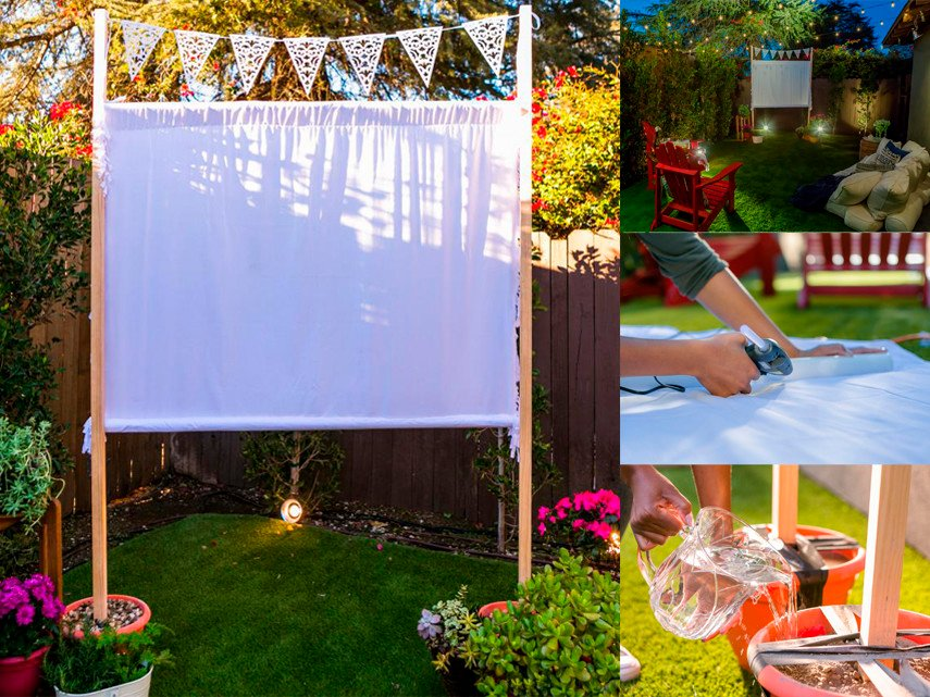 Easy to Make Outdoor Theater Screen