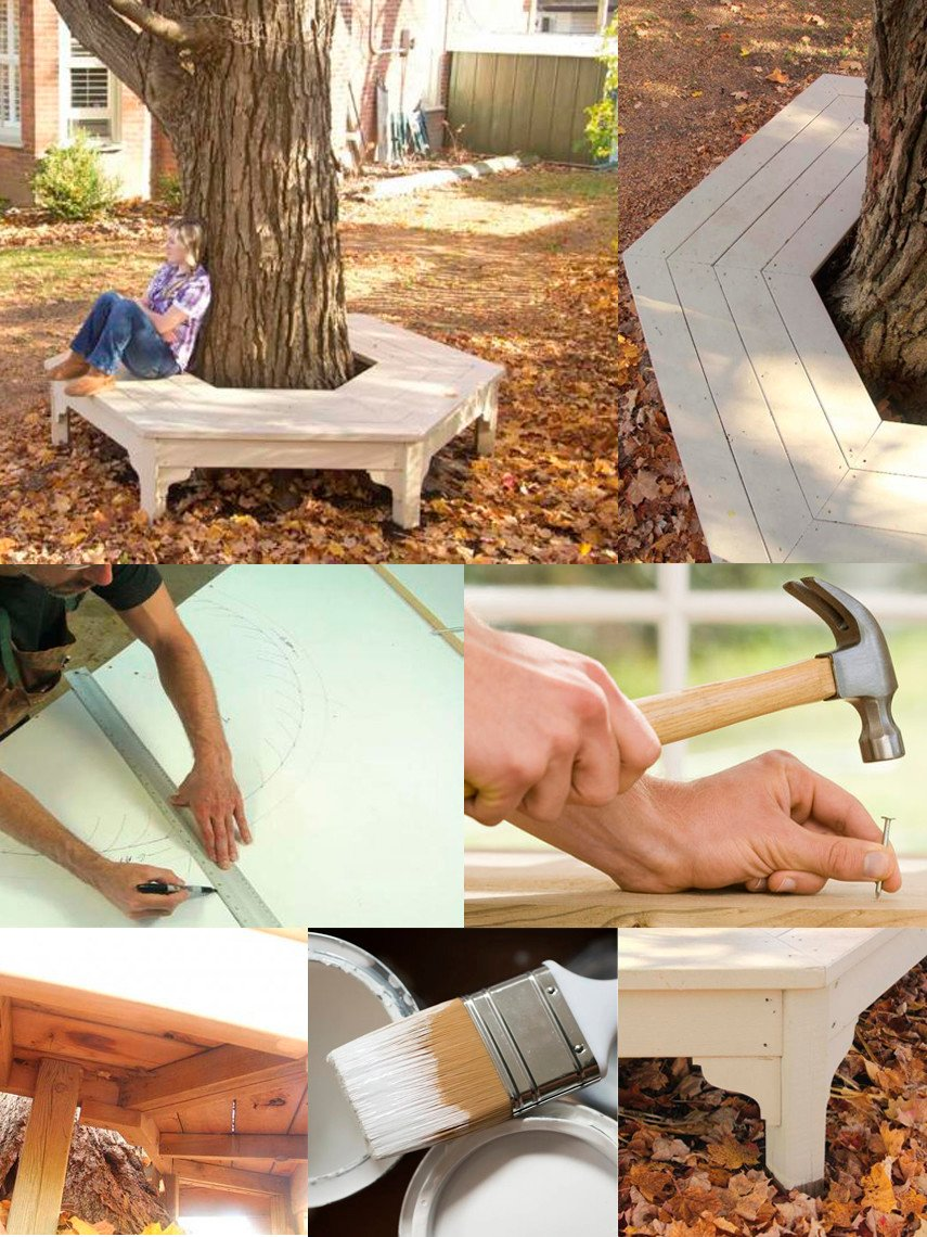 A DIY Tree Bench with Fancy Details Added