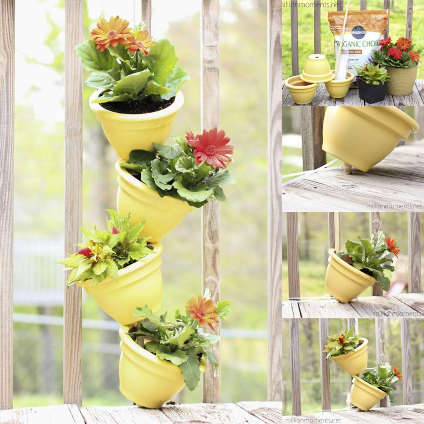 Sunshine Yellow Flower Tower