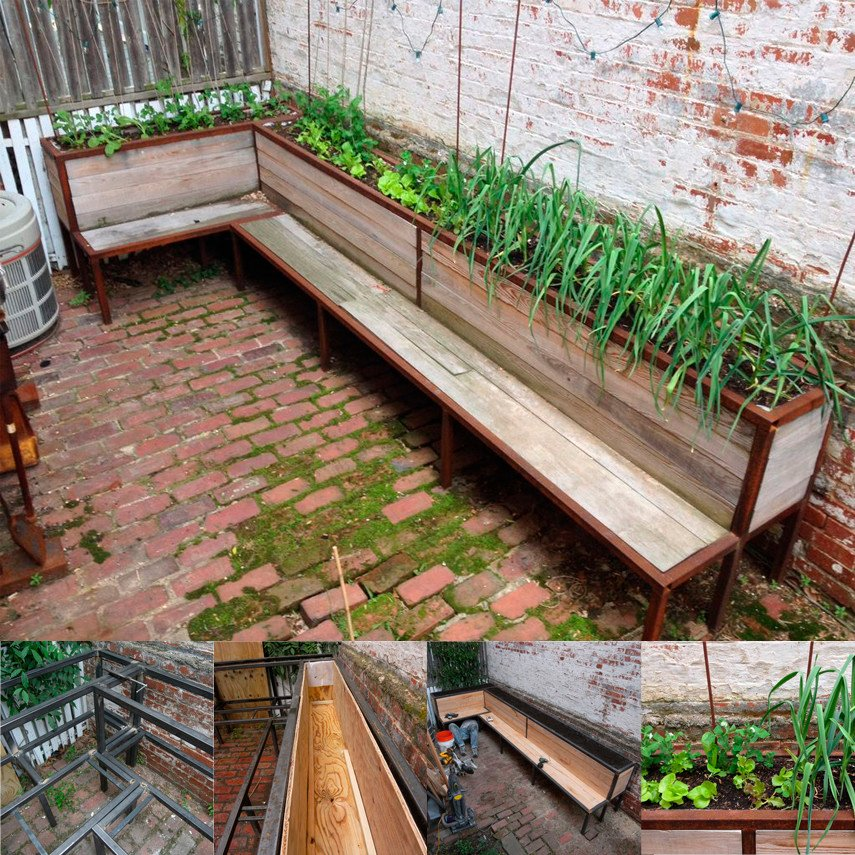 Extra Long Planter Bench