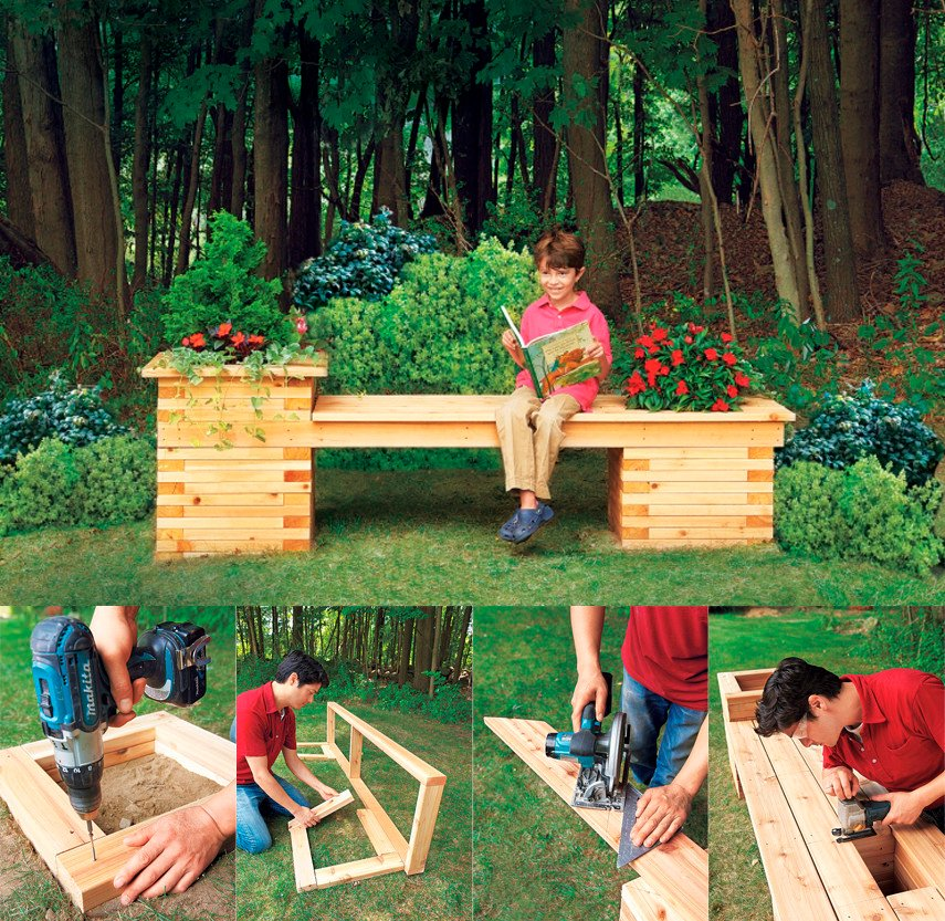 How to build an oblong planter bench