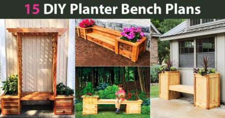 15 DIY Planter Bench Plans (FREE)