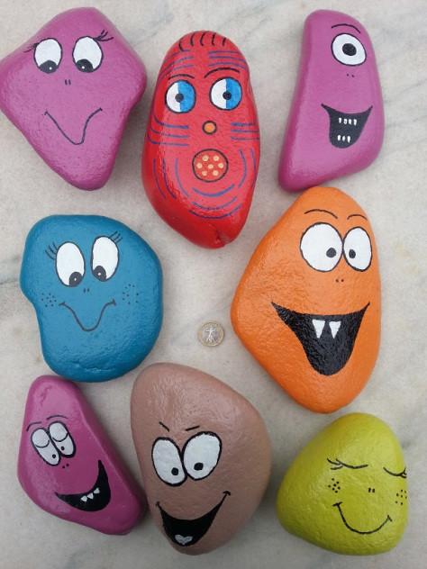Monsters garden stones
