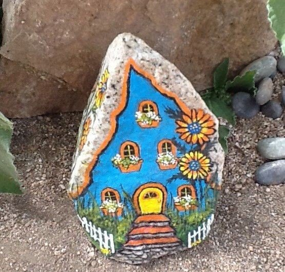 Whimsical ideas for house painted on rocks