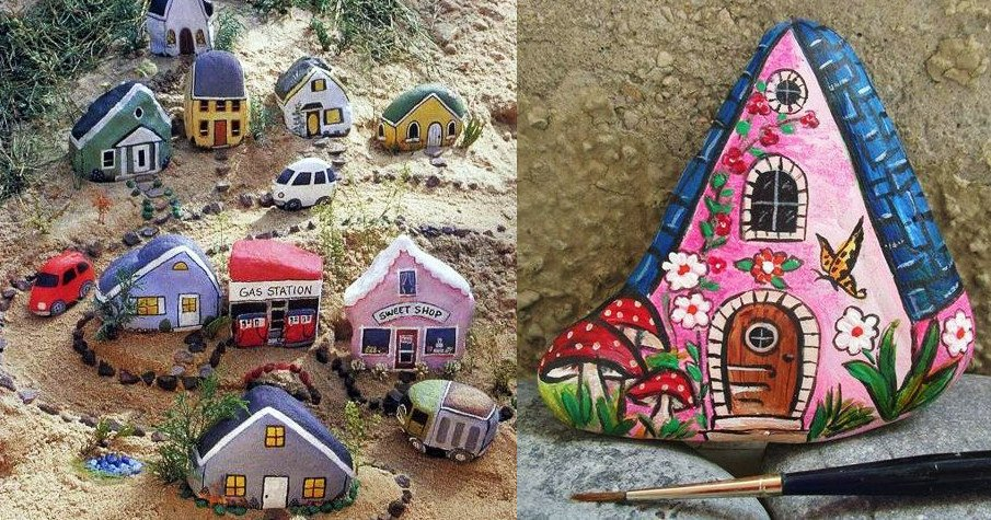 Painted Rock Houses Images and Ideas