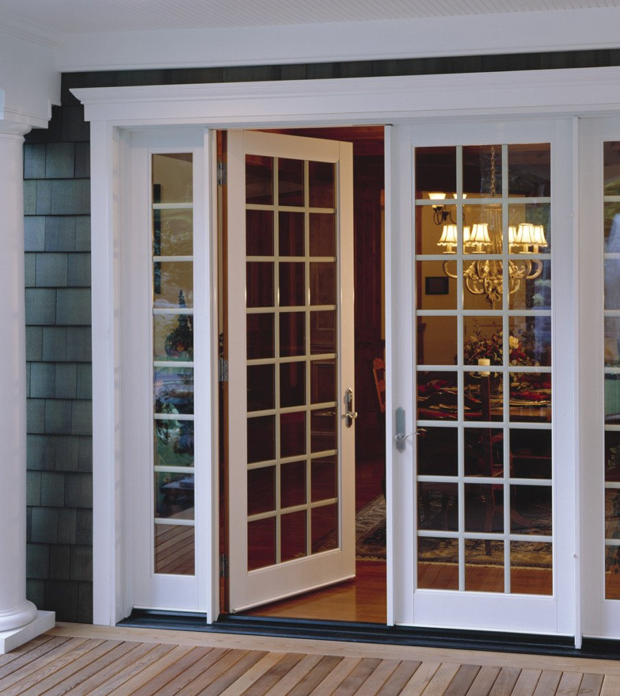 French patio doors with sidelights - by Milgard