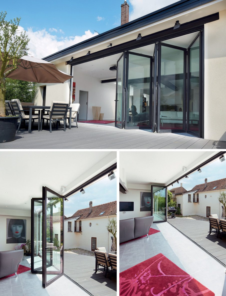 Bi-fold patio doors by Reynaers At Home, in the UK