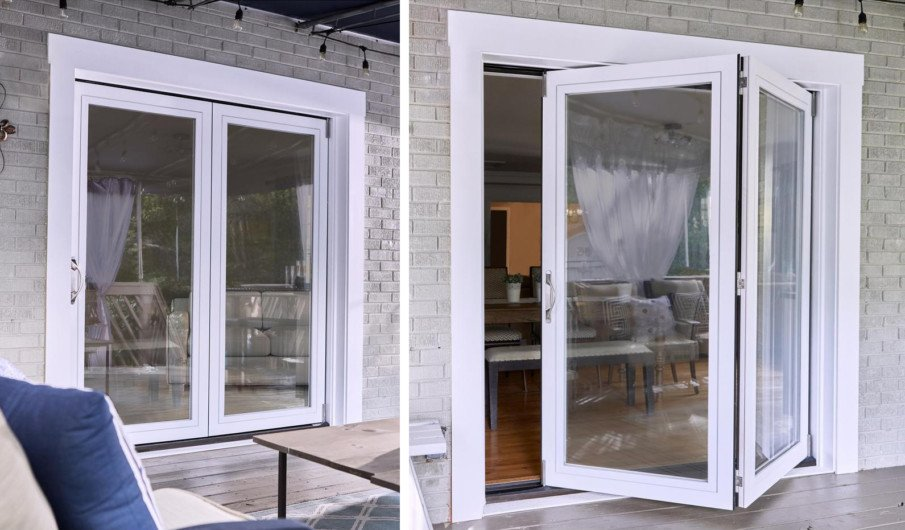 2-Panel Folding Patio Door Kit from Home Depot