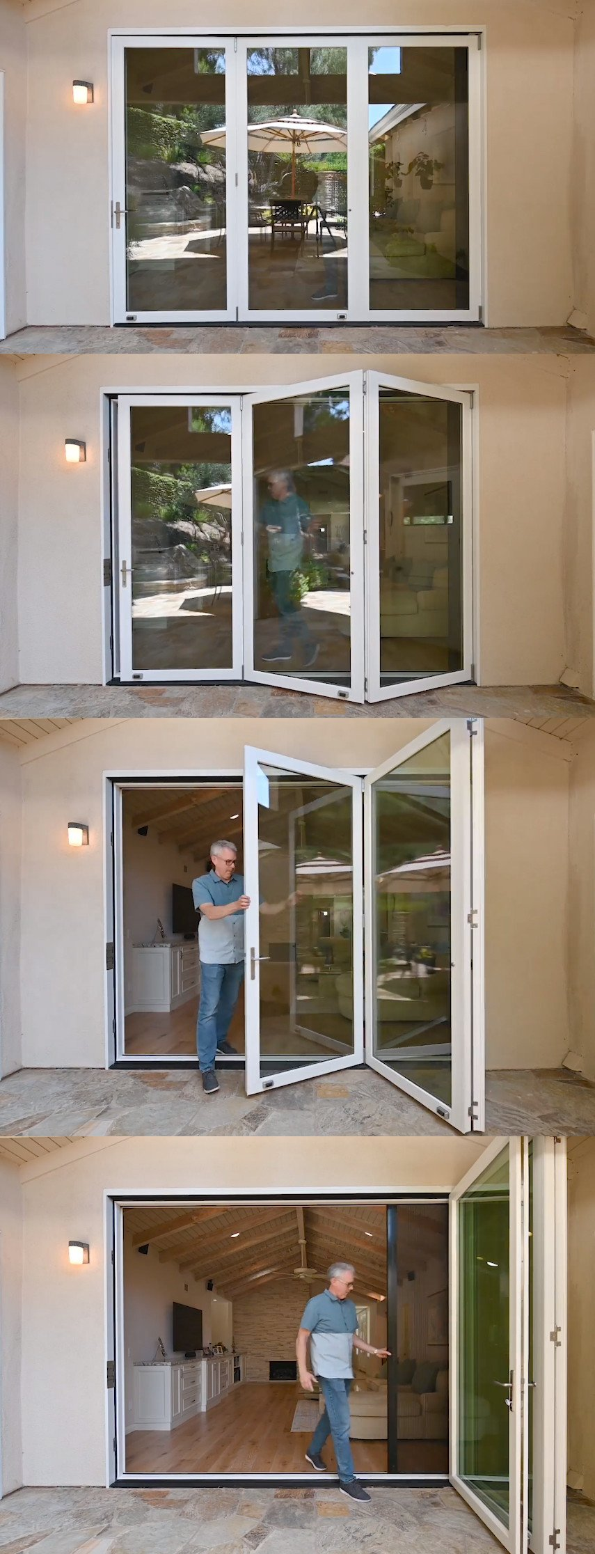 Bi-Fold patio door with Retractable Accordion Screen - from AG Millworks