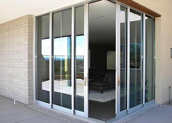 A zero corner sliding door by True View Windows and Glass